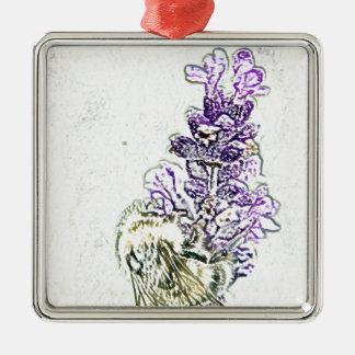 ラベンダーの《昆虫》マルハナバチの鉛筆 メタルオーナメント