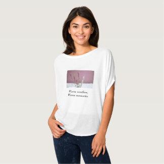 """ラベンダーの""""暖かい天候、暖かい記憶"""" Tシャツ"""