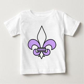 ラベンダーの(紋章の)フラ・ダ・リ ベビーTシャツ