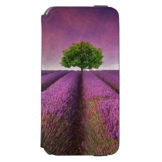 ラベンダー分野の景色の夏の日没 INCIPIO WATSON™ iPhone 6 財布ケース