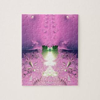 ラベンダー夜庭のジグソーパズル パズル