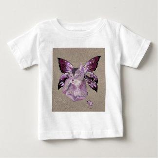 ラベンダー猫 ベビーTシャツ