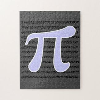ラベンダー青いPiの記号 ジグゾーパズル