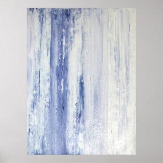「ラベンダー」は紫色の抽象美術ポスタープリントを止めます ポスター