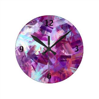 ラベンダー ラウンド壁時計
