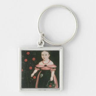 ラベンダー、c.1840の小さな女の子 キーホルダー