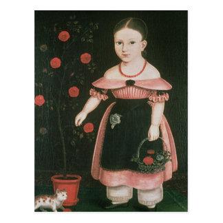 ラベンダー、c.1840の小さな女の子 ポストカード