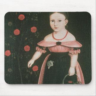 ラベンダー、c.1840の小さな女の子 マウスパッド