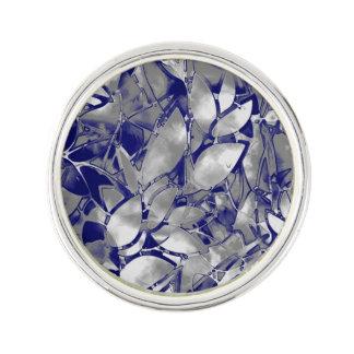 ラペルピンのグランジな芸術の銀の花柄の抽象芸術 ラペルピン