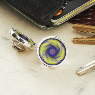 ラペルピンのフラクタルの螺線形渦 ラペルピン