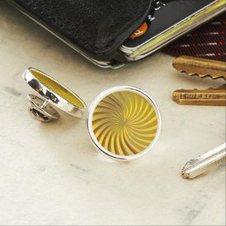 ラペルピンの金ゴールドの螺線形渦 ラペルピン