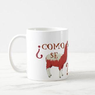 ラマのイメージのComo Seのラマのマグ コーヒーマグカップ