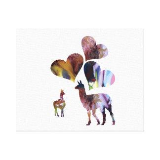 ラマの芸術 キャンバスプリント