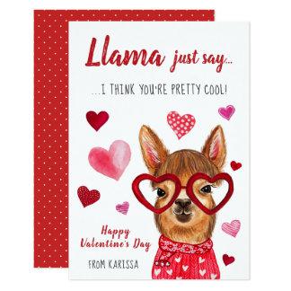 ラマはちょうど|のバレンタインデーカードを言います カード