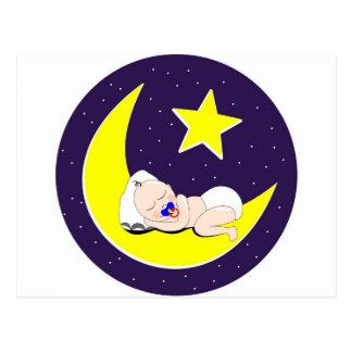 ラマダーンのベビーは月で眠っています ポストカード