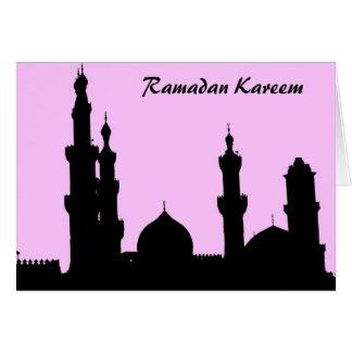 ラマダーンのモスクのピンクカード カード