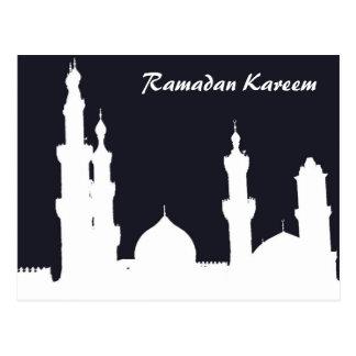 ラマダーンのモスクの黒の郵便はがき ポストカード