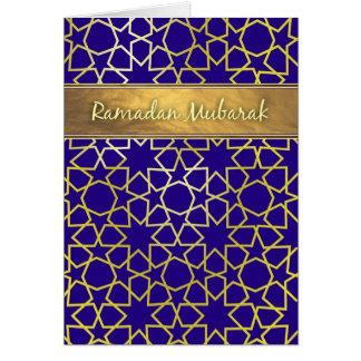 ラマダーンムバラクの紫色および金ゴールド一見のラマダーンカード カード