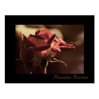 ラマダーンKareem -赤いバラの郵便はがき ポストカード