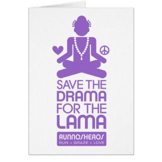 ラマ僧のための戯曲-紫色を救って下さい グリーティングカード
