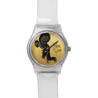 ラムのヒツジまたはヤギ年の中国のな(占星術の)十二宮図の腕時計 腕時計