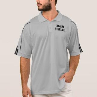 ラムの分隊のアディダスClimaLite®の訓練のジッパーのプルオーバー ポロシャツ