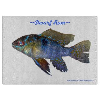 ラムの熱帯魚のガラスまな板 カッティングボード