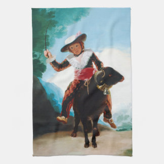 ラムフランシスコJose? de Goyaの男の子 キッチンタオル