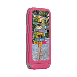 """""""ラム酒ポイント""""カラフル、ハンドメイドの木の道標 ウォータープルーフiPhone SE/5/5sケース"""