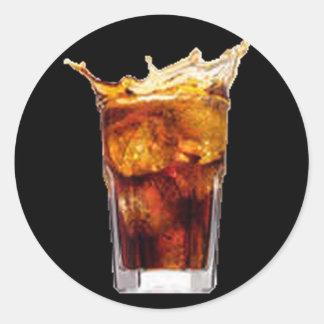 ラム酒及びコーラのステッカー ラウンドシール
