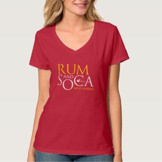 ラム酒及びSoca: 西インド諸島 Tシャツ
