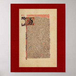 ラモンLlull: 13世紀の極彩色写本 ポスター