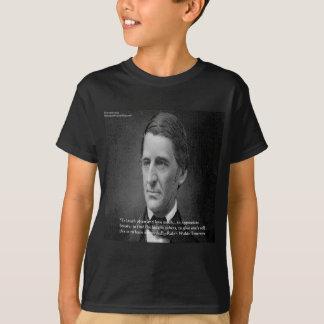 ラルフ・ワルド・エマーソンの成功の知恵の引用文のギフト Tシャツ