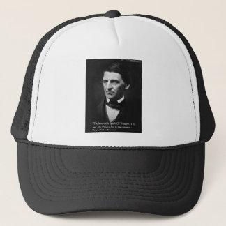 """ラルフ・ワルド・エマーソンの""""共通の知恵""""の引用文のギフト キャップ"""