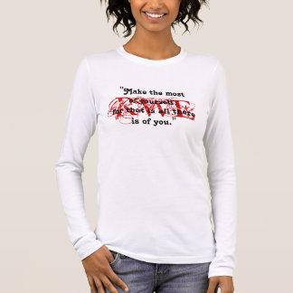 ラルフ・ワルド・エマーソンファンの赤い印のデザインのTシャツ 長袖Tシャツ