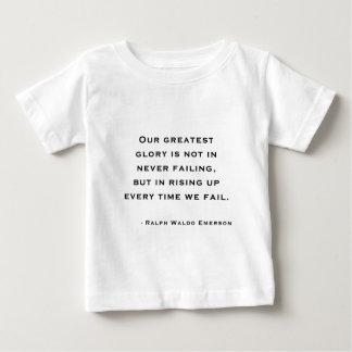 ラルフ・ワルド・エマーソン-刺激の引用文 ベビーTシャツ