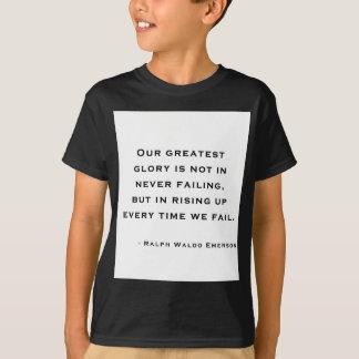 ラルフ・ワルド・エマーソン-刺激の引用文 Tシャツ