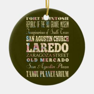 ラレド、テキサスの魅力及び有名な場所 セラミックオーナメント