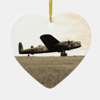 ランカスターの爆撃機のセピア色の調子 セラミックオーナメント