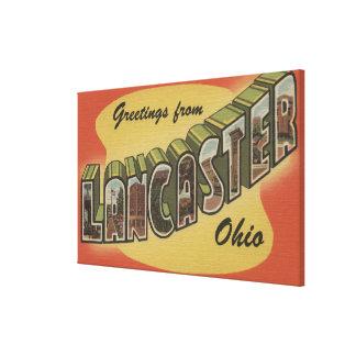 ランカスター、オハイオ州-大きい手紙場面 キャンバスプリント
