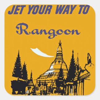 ラングーンにあなたの方法はジェット機で行きます スクエアシール