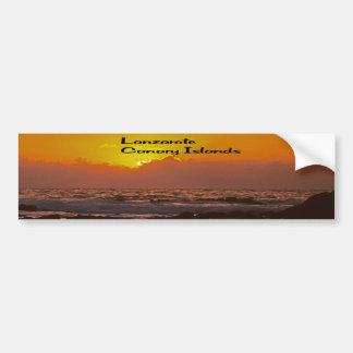 ランサロテ島の日没 バンパーステッカー