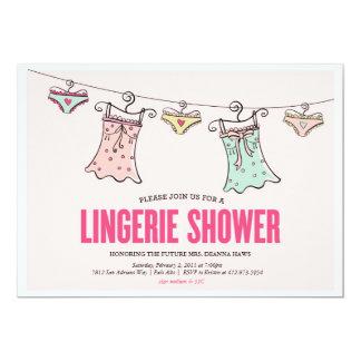 ランジェリーのシャワーのバチェロレッテのウェディングシャワー カード