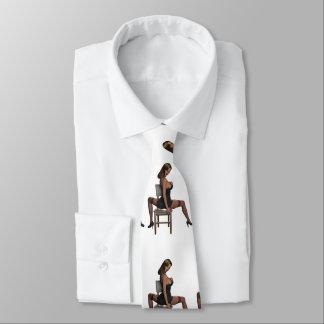 ランジェリーのセクシーな女の子 ネクタイ