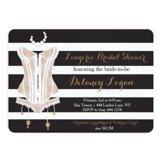 ランジェリーのブライダルシャワーの招待状 カード