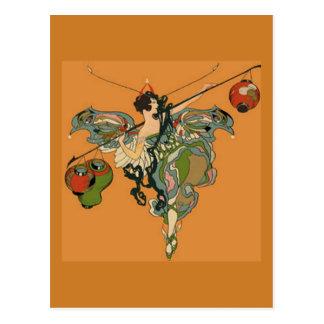 ランタンとのバレリーナの妖精の国 ポストカード