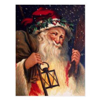 ランタンとの父のクリスマス ポストカード