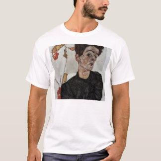 ランタンのフルーツとのエゴンSchiele-の自画像 Tシャツ