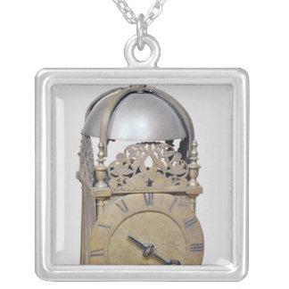 ランタンの時計 シルバープレートネックレス