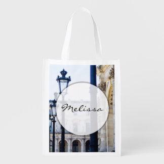 ランタン、パリ、フランスのランプのポスト エコバッグ